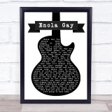 Orchestral Manoeuvres In The Dark Enola Gay Black & White Guitar Music Gift Poster Print