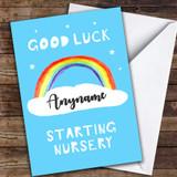 Rainbow Goodluck Starting Nursery Customised Good Luck Card