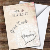 Vintage Good Luck University 2 Customised Good Luck Card