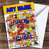 Colourful Back To School Customised Good Luck Card