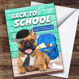 Funny Pug Back To School Customised Good Luck Card