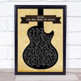 U2 Pride (In The Name Of Love) Black Guitar Song Lyric Music Gift Poster Print