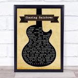 Shed Seven Chasing Rainbows Black Guitar Song Lyric Music Gift Poster Print
