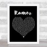 Lee Brice Rumor Black Heart Song Lyric Music Gift Poster Print