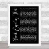 Jamie Lawson Wasn't Expecting That Black Script Song Lyric Music Gift Poster Print