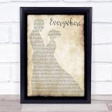 Fleetwood Mac Everywhere Man Lady Dancing Song Lyric Music Gift Poster Print