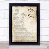 Henry Mancini Moon river Man Lady Dancing Song Lyric Music Gift Poster Print