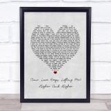 Jackie Wilson Your Love Keeps Lifting Me Higher And Higher Grey Heart Lyric Music Gift Poster Print