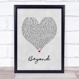 Leon Bridges Beyond Grey Heart Song Lyric Music Gift Poster Print