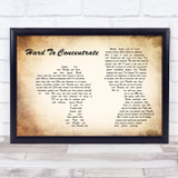 Red Hot Chili Peppers Hard To Concentrate Man Lady Couple Song Lyric Music Gift Poster Print