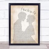 James Morrison I Won't Let You Go Man Lady Bride Groom Wedding Song Lyric Music Gift Poster Print