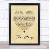 Brandi Carlile The Story Vintage Heart Song Lyric Music Gift Poster Print