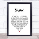 Collective Soul Shine White Heart Song Lyric Music Gift Poster Print