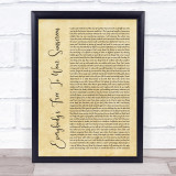Baz Luhrmann Everybody's Free To Wear Sunscreen Rustic Script Song Lyric Music Gift Poster Print
