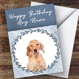 English Setter Dog Blue Animal Customised Birthday Card