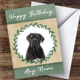 Cane Corso Dog Green Animal Customised Birthday Card