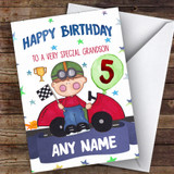 Customised Boys Birthday Card Racing Car 1St 2Nd 3Rd 4Th 5Th 6Th Grandson
