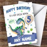 Customised Boys Birthday Card Dinosaur 1St 2Nd 3Rd 4Th 5Th 6Th Nephew