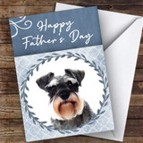 Miniature Schnauzer Dog Traditional Animal Customised Father's Day Card