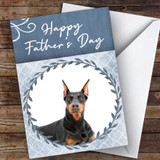 Doberman Pinscher Dog Traditional Animal Customised Father's Day Card