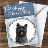 Cairn Terrier Dog Traditional Animal Customised Father's Day Card