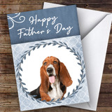 Basset Hound Dog Traditional Animal Customised Father's Day Card