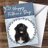 Newfoundland Dog Traditional Animal Customised Father's Day Card