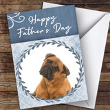 Bullmastiff Dog Traditional Animal Customised Father's Day Card