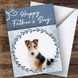 Fox Terrier Dog Traditional Animal Customised Father's Day Card