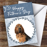 Bloodhound Dog Traditional Animal Customised Father's Day Card