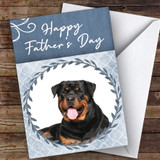 Rottweiler Dog Traditional Animal Customised Father's Day Card