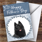 Schipperke Dog Traditional Animal Customised Father's Day Card