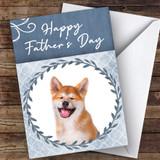 Akita Inu Dog Traditional Animal Customised Father's Day Card