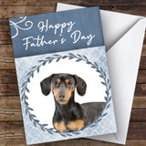 Dachshund Dog Traditional Animal Customised Father's Day Card