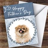 Pekingese Dog Traditional Animal Customised Father's Day Card