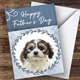 Cavachon Dog Traditional Animal Customised Father's Day Card