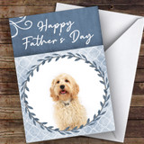 Cockapoo Dog Traditional Animal Customised Father's Day Card