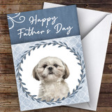 Shih Tzu Dog Traditional Animal Customised Father's Day Card
