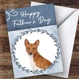 Basenji Dog Traditional Animal Customised Father's Day Card