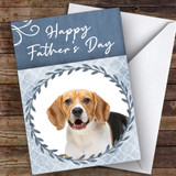 Beagle Dog Traditional Animal Customised Father's Day Card