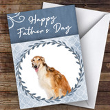 Borzoi Dog Traditional Animal Customised Father's Day Card