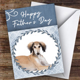 Saluki Dog Traditional Animal Customised Father's Day Card
