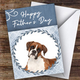 Boxer Dog Traditional Animal Customised Father's Day Card