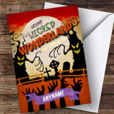 Spooky Poster Style Wicked Wonderland Customised Happy Halloween Card