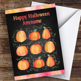 Pumpkin Repeat Swirl Pattern Customised Happy Halloween Card