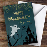 Haunted House Scary Ghoul Customised Happy Halloween Card