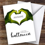 Scary Monster Hands Love Customised Happy Halloween Card