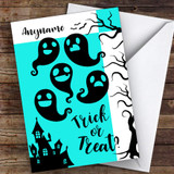 Silhouette Scary Ghoul Customised Happy Halloween Card