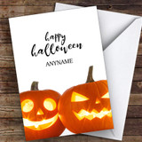 Pumpkin Scary Faces Customised Happy Halloween Card