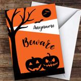 Silhouette Pumpkins Customised Happy Halloween Card